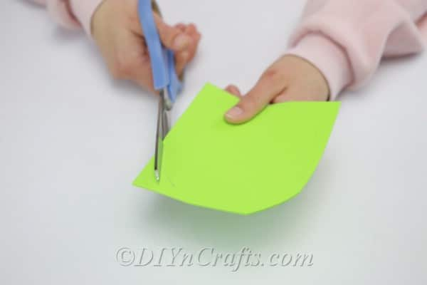 Cutting circles from craft foam sheets