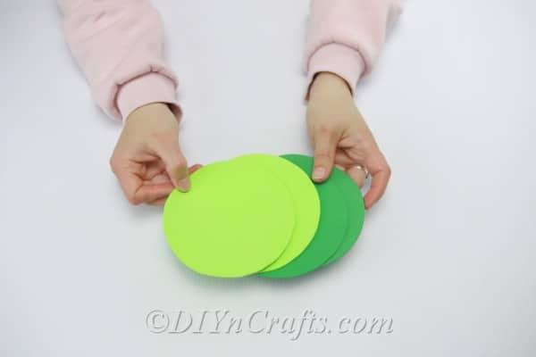 Gluing circles onto a CD