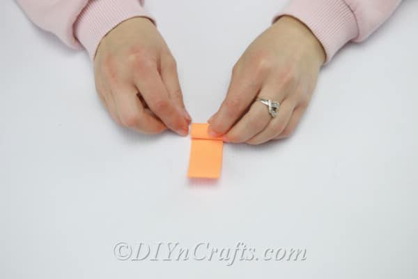 Rolling strips cut from foam sheets