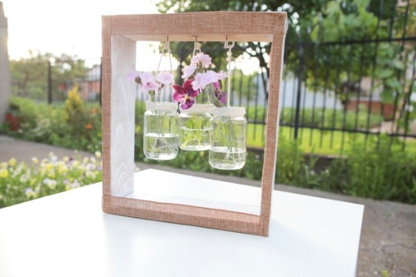 How To Make A Wooden Jar Vase Hanger