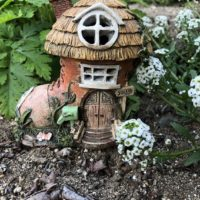 Outdoor Miniature Boot Fairy House with Lights