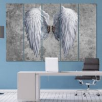 Angel wings canvas Angel wings art Banksy decor