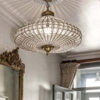Crystal Ceiling Chandelier Vintage Antique Replica Light Fixture