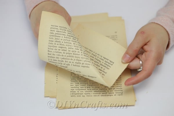 Turning book pages into cones