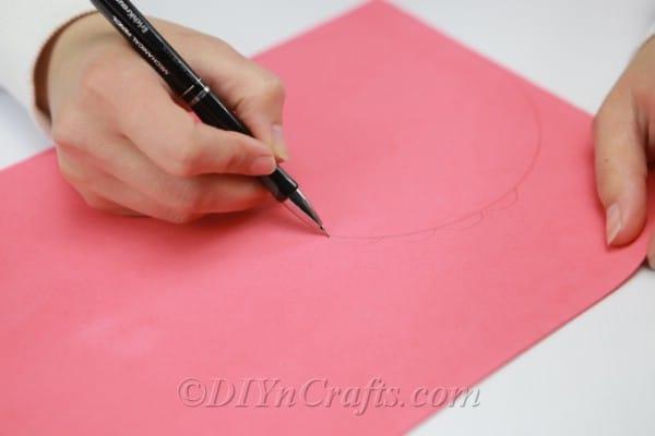 Drawing a wavy line onto craft foam