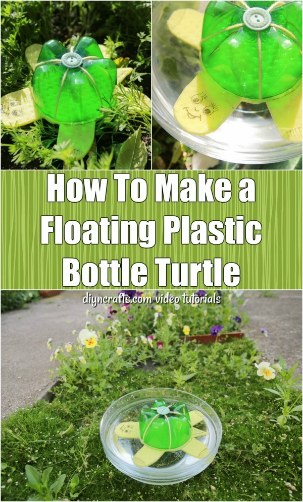 How To Make a Plastic Bottle Floating Turtle - Get the kids excited about crafts this summer with this DIY floating turtle that you make from an upcycled soda bottle. The step-by-step tutorial shows you how.