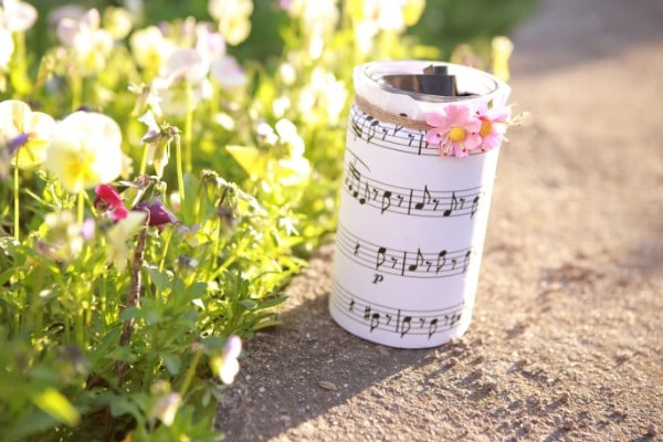 How To Make A Decorative Sheet Music Jar