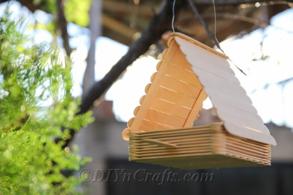 It is fast and easy to make your own bird feeder.