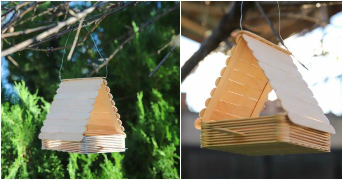 How To Make A Cute Diy Bird Feeder Out Of Craft Sticks