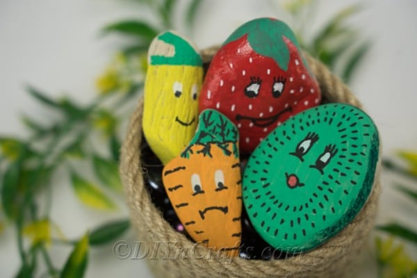 These adorable painted garden markers look great on display.