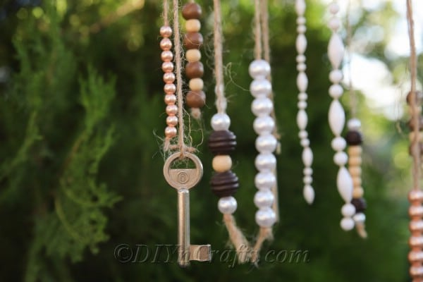 A rustic wind chime makes for great handmade décor.