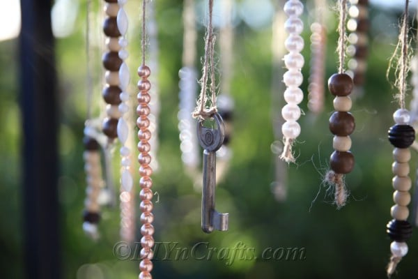 DIY wind chimes bring joy to any space.