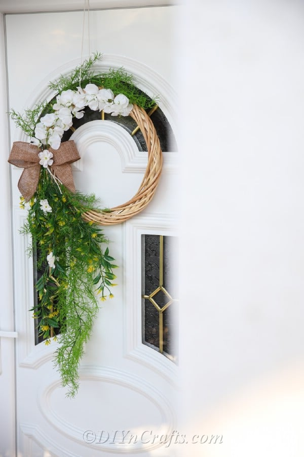 A completed DIY wreath can beautify any door or wall.