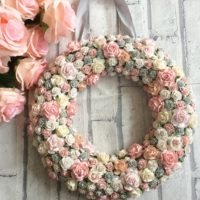 Custom made floral wreath