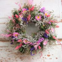 Flower Wreath Door Wreath nature Durable