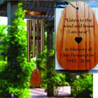 Personalized Memorial Tribute Wind Chime