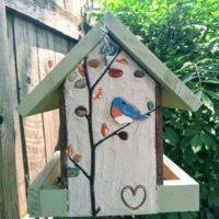 Handmade, unique easy fill birdfeeder.