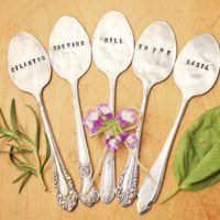 Plant Garden Herb Markers Spoon