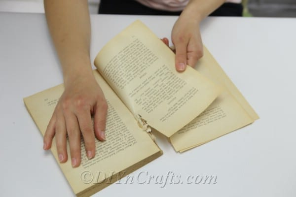 Tear a few pages out of an old, unwanted book.