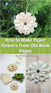 How to Make Paper Flowers from Old Book Pages - DIY & Crafts