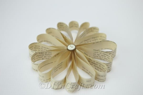 Your finished book page flowers are so beautiful.