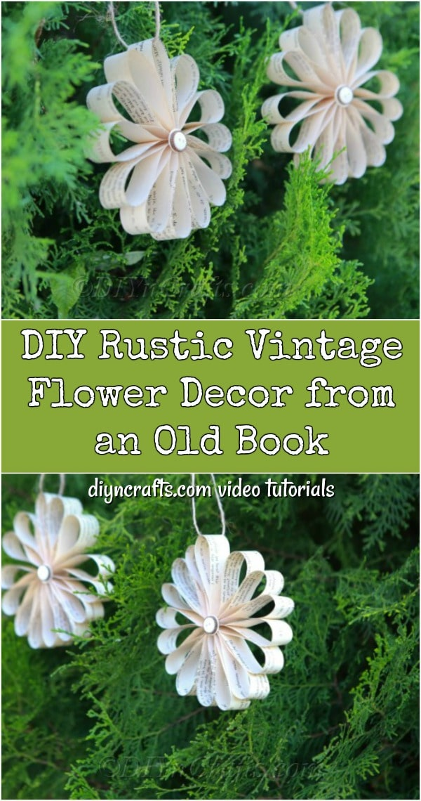 Making a vintage flower decoration out of an old book is easy and fun.