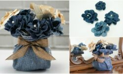 How to Make Beautiful Flowers Out of Old Jeans