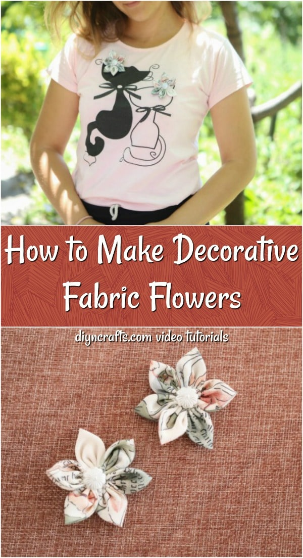 How To Make Decorative Fabric Flowers Diy Crafts