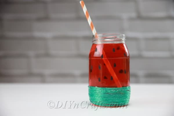 Put a straw in your watermelon jar.
