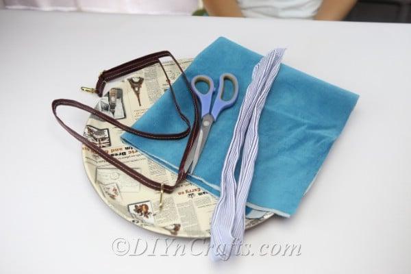 Diy handbag materials.