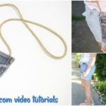 Denim Bag Upcycled Jeans Pocket Tutorial