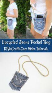 Tutorial de bolso com jeans reciclado