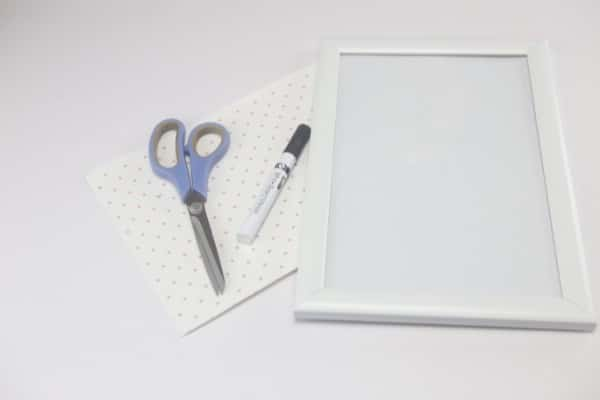 You only need these few supplies to make your DIY whiteboard.