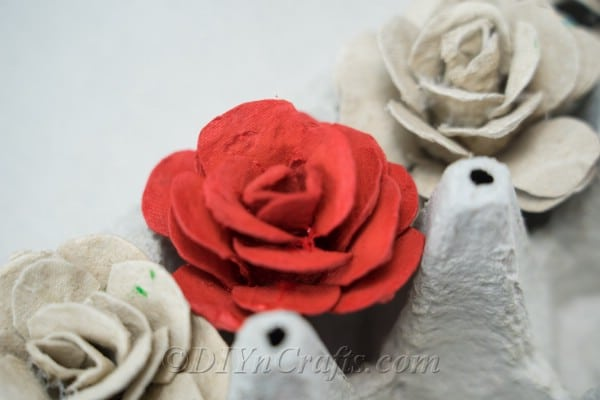 Egg carton roses are beautiful to display on their own or to integrate into other craft projects.