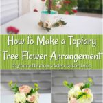 Floral tree pinterest collage photos.