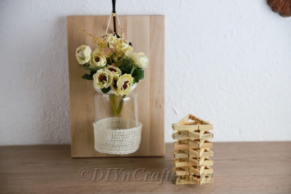 Hang your rustic wall décor or set it on a table or desk.