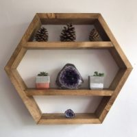 Decorative hexagon shelf