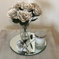 6 x Stemmed Book Page Roses