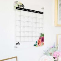 Clear Wall Calendar Dry Erase Calendar for Wall