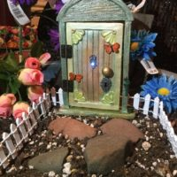Flowered Fairy Door for home and Garden