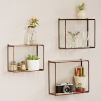 Hanging Glass Wall Shelf