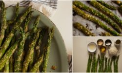 Roasted Garlic Parmesan Asparagus Spears
