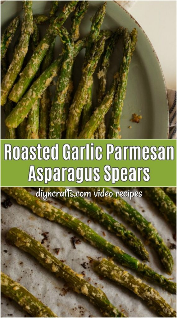 Roasted Garlic and Parmesan Asparagus Spears ready to serve