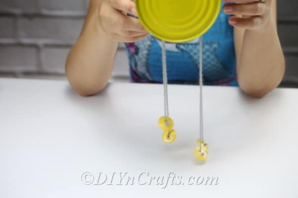 Showing legs on bee craft
