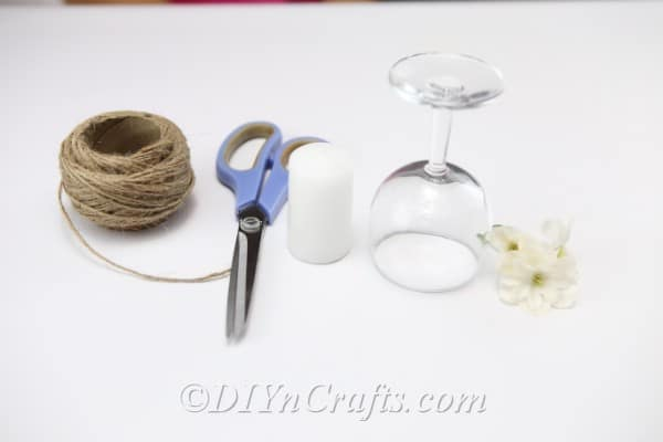 Supplies You Need to Make the Rustic Candle Holder