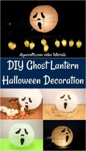 How to make a ghost themed paper lantern for Halloween