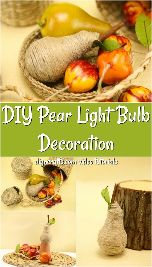 Learn how to make wrapped pear fruit decoration
