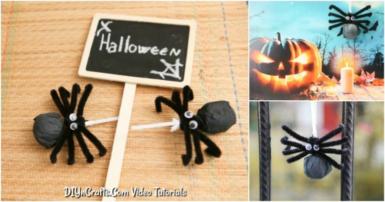 Learn how to make a spider craft Halloween lollipop