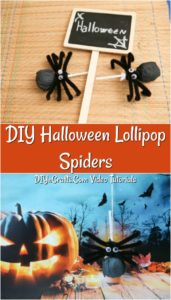 How to make a DIY Halloween Lollipop Spider Craft