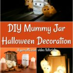 How to turn mason jar lights into mummy lanterns